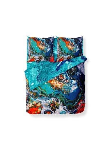 Helen George Helen George Dionne 200 X 220 Cm Çift Kişilik Desenli Pamuk Saten Renkli Nevresim Takımı Renkli